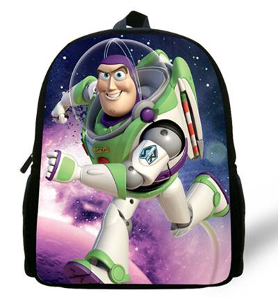 - 12-inch Childlike Toy Story School Bag Cute Buzz Lightyear Backpacks Toy Story Book Bags For Boys and Girl Aged 1-6. - Multi  jetcube