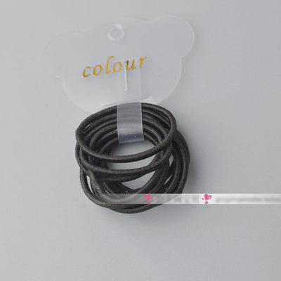 - 10 Pcs/ lot (1 pack) Mini 2.5mm thickness hair ropes little girls Slim hair ties kids Babe hair ropes accessories - Black  jetcube