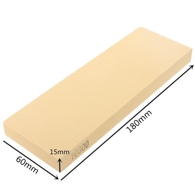 - 10000#Knife Honing Sharpener Sharpening Stone Grindstone with Base Knife Sharpener Sharpening Grinding Stone Corundum Whetstone -   jetcube