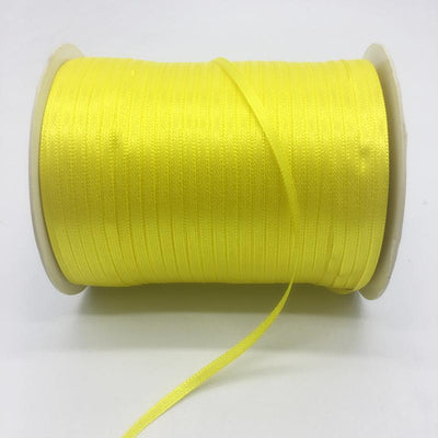 "- (20Yards/lot)1/8"" 3mm Silk Satin Ribbon Polyester Ribbon Wedding Christmas Party Decoration DIY Gift Packing - Yellow  jetcube"