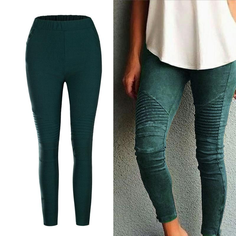 Boyfriends AA Pleated Fitness Leggings Women Elastic Legins Legging Women Trousers Stretch Skinny Pencil Leggins Lift Hips Pants
