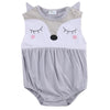 - 0-24M Newborn Baby Clothes Cute Cartoon Fox Bodysuit Summer Sleeveless Infant Kids Baby Body Clothes Onesies Bodysuits - Gray / 10-12 months  jetcube