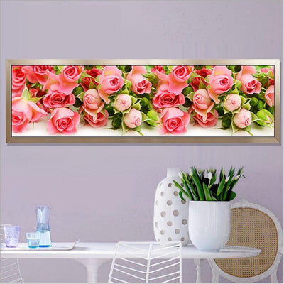 - 170X50CM 5D Round Diamond Painting Cross Stitch kit Butterfly flowers pictures for Diamond embroidery Diy Diamond mosaic flowers -   jetcube