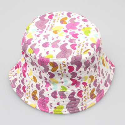 - 2-6T Baby Cartoon Print Bucket Sun Hat Floral Children Summer Panama Caps Baby Girls Fisherman Straw Hat Kids Boys Topee cap - 5  jetcube