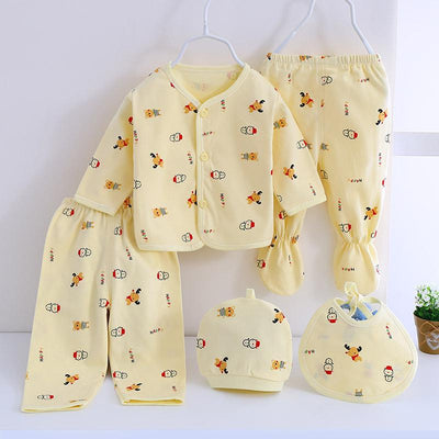 - 0-3M Newborn Infant Baby Girls boys Clothes Long-sleeved shirt,pants,hat,scarf 7pcs 5pcs Outfit Kids Clothing Set Factory cheap - 5PCS 04 / 3M  jetcube
