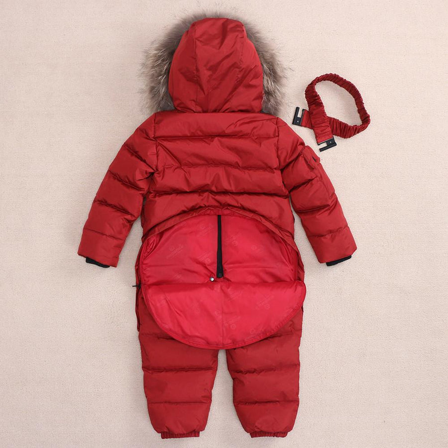 - -30 Degree Winter Children Jumpsuit Down Jacket For Girl clothes Boy Outerwear Coat Thicken Waterproof Snowsuits Kids Ski Suit -   jetcube
