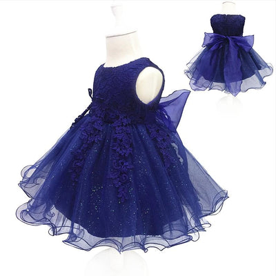 Free Shipping 2 10 Years Lace Girl Party Dress 2017 New Design