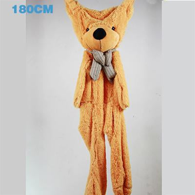 - 180cm Teddy Bear Skins Plush Soft Toy Dolls Giant empty Bear animal skins shell for kids Cute Peluche Animal Stuffed Toys Gifts - Khaki  jetcube