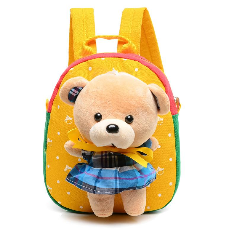 1-3 Years Old Baby Girl Boys School Bags With Cute Cartoon Bear Cat Kids Brithday Gift Kindergarten Backpack Children SchoolBags