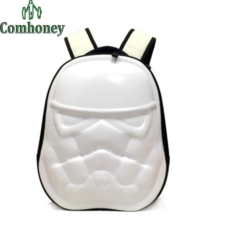 Children Backpacks Darth Vader Backpack for Teenagers Boys Girls 3D Black  Knight White Soldiers School Backpack 97c9380122