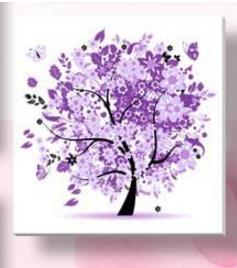 - % Flower arranging 5D diamond Painting flowers tree Cross Stitch diamond embroidery mosaic diamonds wall stickers home decor - Purple / 30*30cm  jetcube
