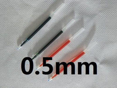0.5mm and 0.7mm Sewing Tools Air Erasable Pen for cross stitch fabric Wipe Off Water Soluble Fabric Marker Pen  UpCube- upcube