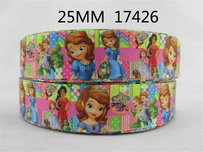 "- (5yds per roll) 1""(25mm) Cartoon high quality printed polyester ribbon 5 yards,DIY handmade materials,wedding gift wrap,5Yc1677 - 1017426001  jetcube"