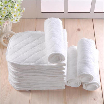 - 10 PCS/lot Reusable Washable Baby Diaper Newborn Cloth Diapers Easy Washing Nappy Cotton -   jetcube