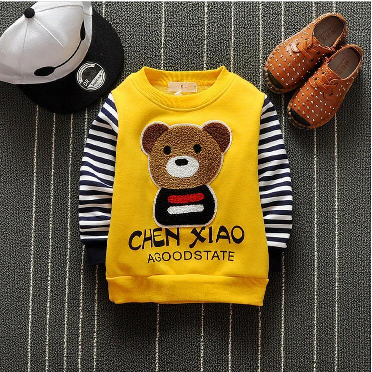 - 0-2 year old boy and girl cartoon bear pattern long sleeve clothes + free gift -   jetcube