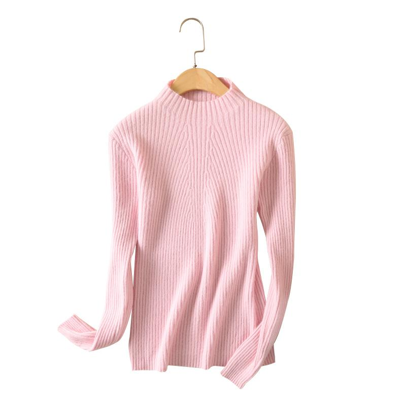 LHZSYY New Autumn winter Women Sweaters fashion Tight high collar Cashmere Sweater solid Color Soft and warm Knitted pullovers