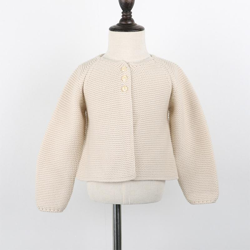- 0-24m Baby Cardigan girls Jacket 2018 Spring knited Outwear For Children tops toddler kids clothing autumn - beige / 12M  jetcube