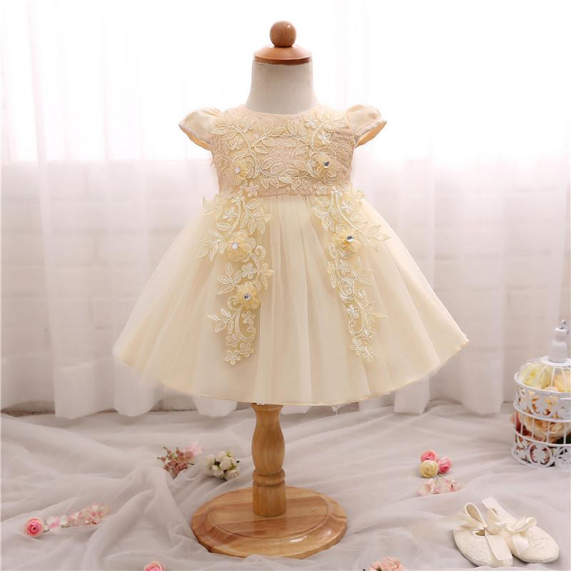 Summer Baby Girl Dress New Designer Baptism Gowns Lace Christening ...