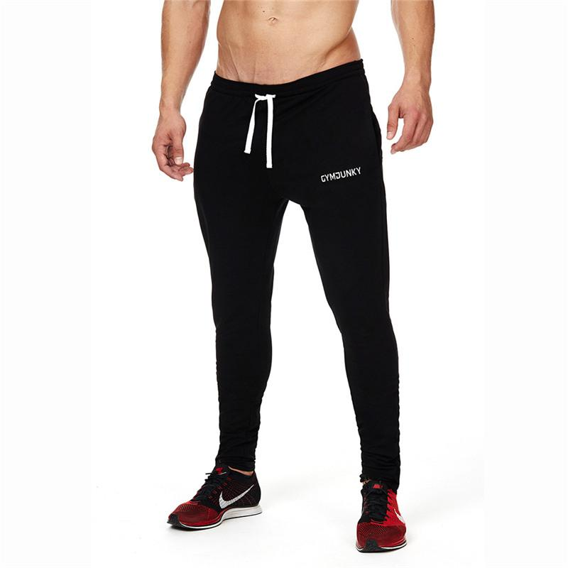 2017 Autumn Winter Cotton Embroidery Pants Style Fashion Casual Gyms Skinny Black Gray Sweatpants Pants Trousers Men Joggers