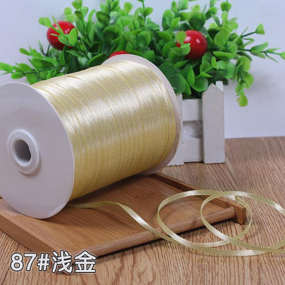 "- (10meters) 1/8""3mm Multi Colors Option Satin Ribbon Gift Packing Christmas Ribbons Wedding Party Decorative DIY Crafts supplies -   jetcube"