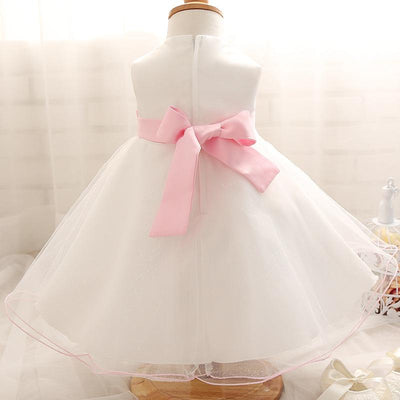 - 0-2Year Baby Girl Dress Newborn White Princess Dress Baby Wedding Dress 1 Year Baby Girl Birthday Dress Infant Christening Gown -   jetcube
