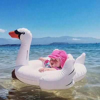 - 0-4 Years Old Flamingo Baby Seat Float Swimming Pool Party Swimming Ring Children Swimming Pool - White  jetcube