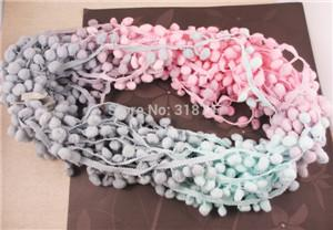 - 2*2y 7mm Width Pompom Ball Trims 2*2y/pack 17010704(7D4y) - Mixed Colors 1  jetcube