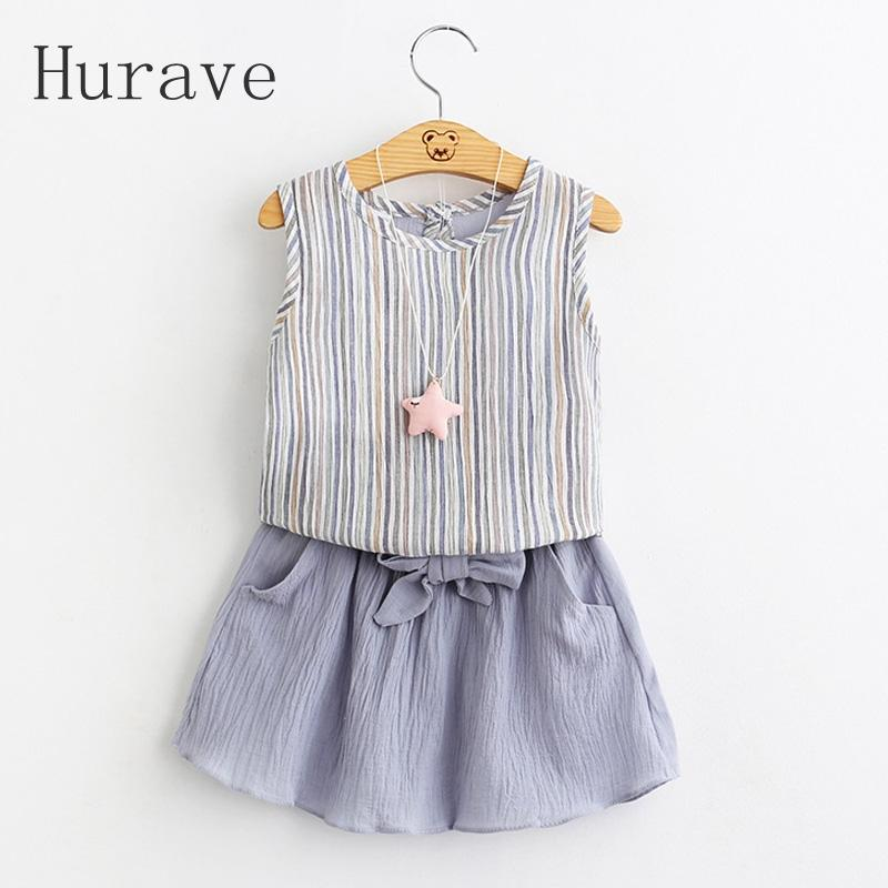 0644390b246c Hurave 2017 new girls skirt summer cute kids clothes clothing ...