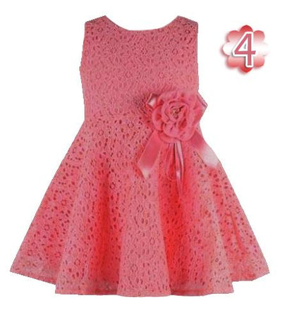 - 0-2 Years New Gift Summer Lace Vest Girls Dress Baby Girl Cotton Dress Chlidren Clothes Kids Party Clothing For Girls - Dark Red / 12M  jetcube