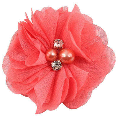 - 2.5 inch Pearl Diamond Headdress Flower Hair Accessories New Born Teens Girl Hairpin Children Fashion Elastic Hairclip Hairbow - 14  jetcube