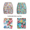 iMucci Flower Floral Printed Women Skirt Spring Summer Girl Printing Short Skirts Sexy Hip Blue Red High Waist Office Lady Cloth