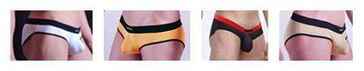 - (4 pieces/lot) Sexy Translucent panties Men's boxers sexy panties rings ultra-thin boxer panties male breathable u shorts -   jetcube