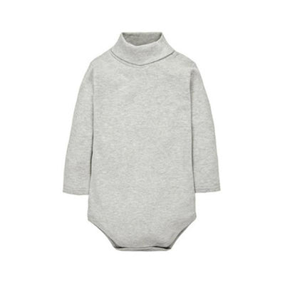 - 12 Color Baby Clothes 0-24M Newborn baby boy girl clothes Jumpsuit Long Sleeve Infant Product solid turtleneck Baby Rompers -   jetcube