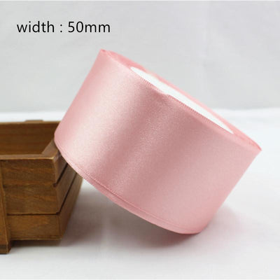 - 041, free shipping Wholesale 25 Yards Silk Satin Ribbon , Wedding decorative ribbons, gift wrap, DIY handmade materials - 50mm  jetcube