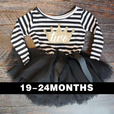 - 0-2 Years Baby Princess Girl Dress One Piece For Toddler Girl Clothing Stripe Tutu Dress Children Casual Dresses Infant Clothes - HI2  jetcube
