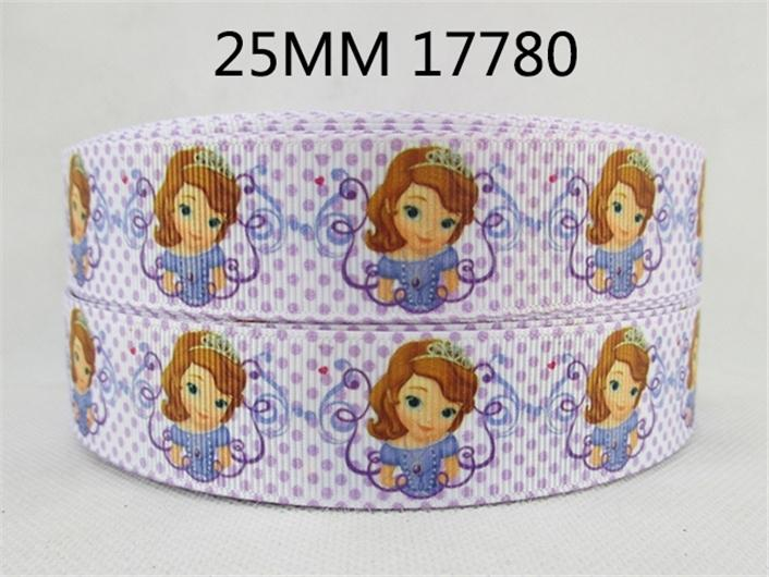 "- (5yds per roll) 1""(25mm) Cartoon high quality printed polyester ribbon 5 yards,DIY handmade materials,wedding gift wrap,5Yc1677 - 1017780001  jetcube"