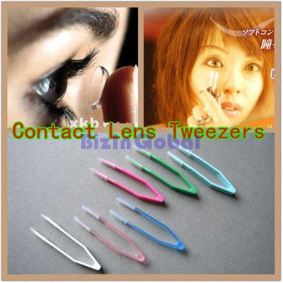- 10 Pcs Eyes Care Contacts Tweezers Insert Remover Contact lenses Tweezers Colorful Silicone 60mm Tweezers Makeup Tool EB1066 -   jetcube