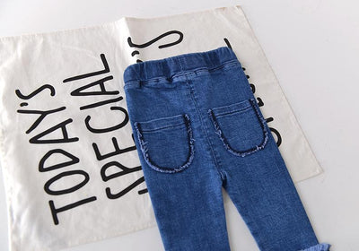 - 0-3 years 2018 Wholesale Spring Denim Solid Baby Pants (pick size )73BT0103 -   jetcube