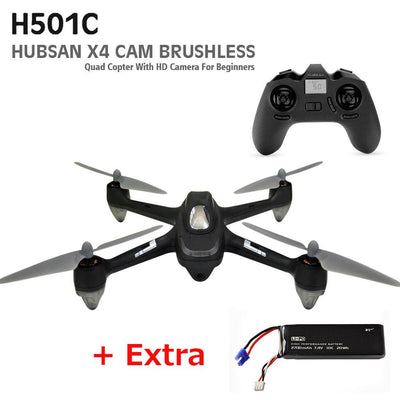 - (with two batteries) Original Hubsan X4 H501C With 1080P Camera Brushless Drone RC Quadcopter RTF 2.4GHz GPS Altitude Hold Mode - Default Title  jetcube