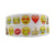 "(5yds per roll) 1""(25mm) emoji high quality printed polyester ribbon 5 yards, DIY handmade materials, wedding gift wrap,5Yc971"
