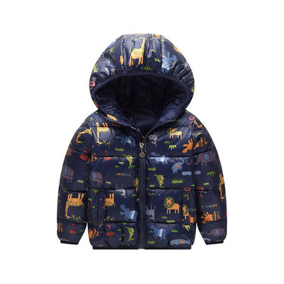- 2-6 Years Dinosaur Pattern Girls Boys Coats 2017 Outerwear & Coats Fashion Boys Parkas Kids Clothes Warm Down Coats for Boys - 3 / 24M  jetcube