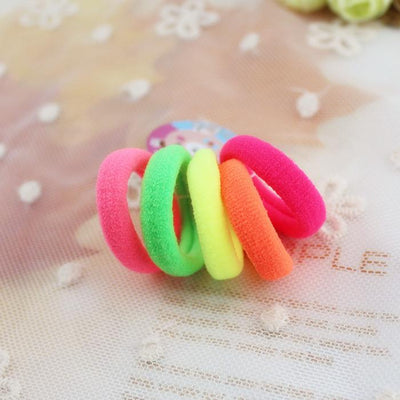 - 100 pcs/pack Candy Colour Basic Rubber Band 3cm Children Kids Elastic Hair Band Baby Girls Hair Rope Accessories kk1522 - kk1522  Mix  jetcube