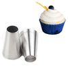 #1A Large Round Metal Cake Cream Decoration Tips Pastry Tools Stainless Steel Piping Icing Nozzle Cupcake Head - Jetcube