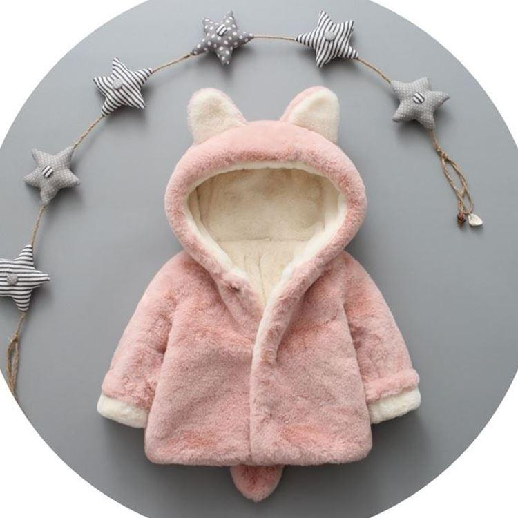 2017 Autumn winter baby girl coats fashion cute baby soft fleece cloak Toddler clothes for girls outerwear baby clothes 0-2years