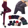 1 Pair Winter Fashion New Women's Solid Thick Hosiery Warm Fleece Lined Thermal Stretchy Trousers Leggings Pants