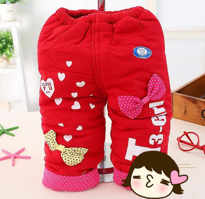 - (1piece /lot) 100% cotton 2015 new warm trousers for 4-24month baby - Multi / 12M  jetcube
