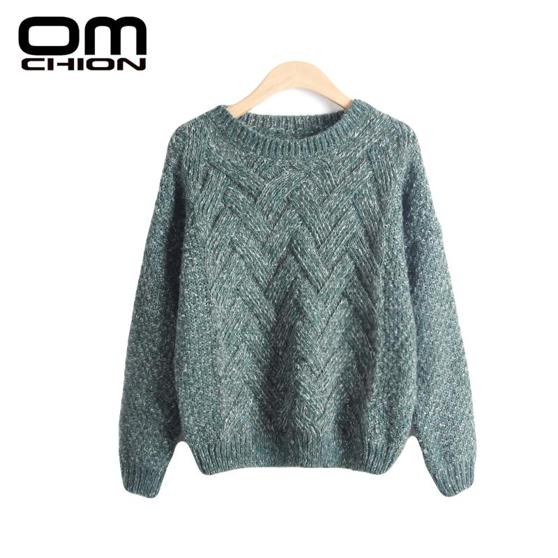 Pull Femme 2018 Autumn Winter Women Sweaters And Pullovers Plaid Thick Knitting  Mohair Sweater Female Loose 7faa6061d