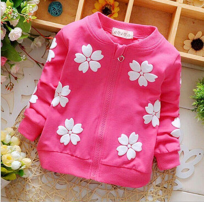 0-2 year old female baby fashion new cotton long sleeve flower clothes + free gift  UpCube- upcube