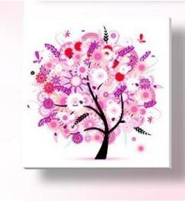 - % Flower arranging 5D diamond Painting flowers tree Cross Stitch diamond embroidery mosaic diamonds wall stickers home decor - pink / 30*30cm  jetcube