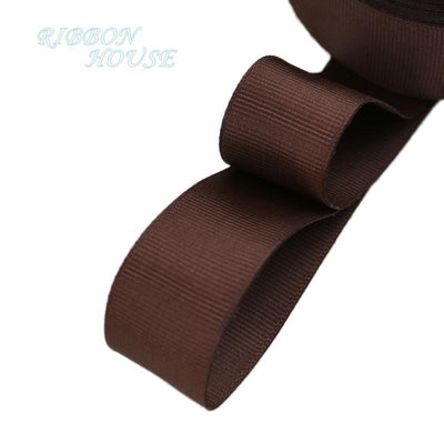 "- (5 meters/lot) 1"" (25mm) Grosgrain Ribbon Wholesale gift wrap Christmas decoration ribbons - Dark Coffee  jetcube"